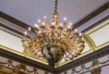 Fancy chandelier.